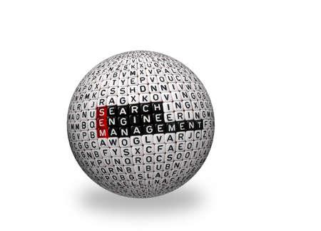 sem: SEM Search Engine Management written on 3d sphere
