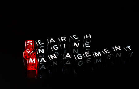 sem: SEM Search Engine Management written on   dices  on black