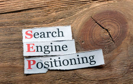 sep: acronym sep - search engine positioning on  paper Stock Photo