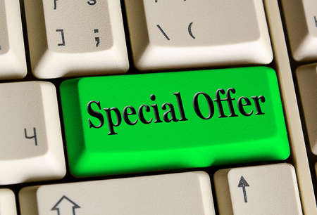 e business: Special Offer  on computer keyboard ,   E- Business  concept
