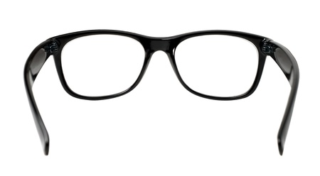 black eye glasses isolated on white background Stock Photo - 17257963