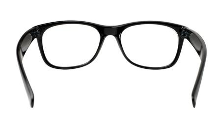 black eye glasses isolated on white background Stock Photo - 17257963