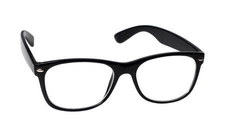 eye glasses: black eye glasses isolated on white background