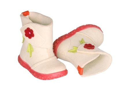 Children s felt boots Stock Photo - 17360100