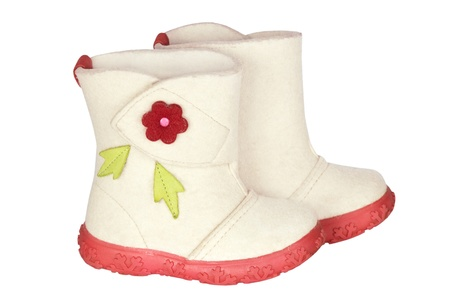 Children s felt boots Stock Photo - 17385462