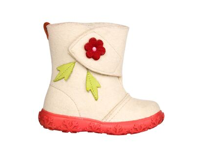 Children s felt boot Stock Photo - 17385456