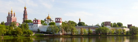Novodevichy convent in Moscow in the sammer, panorama