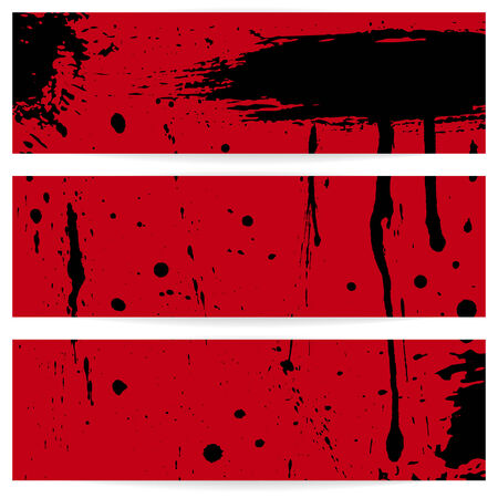 Three grunge horizontal banners  Illustration