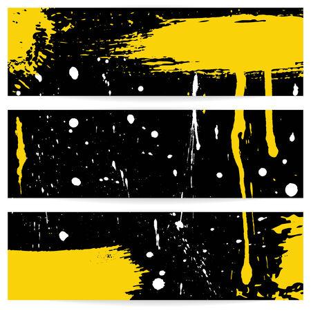 Three grunge horizontal banners  Eps 10 vector illustration Illustration