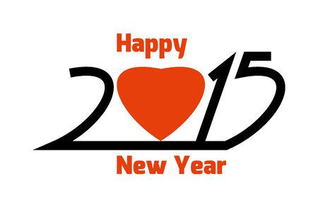 Happy new year 2015 Illustration