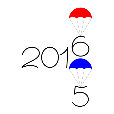 Happy new year 2015 and 2016 text design on the white background
