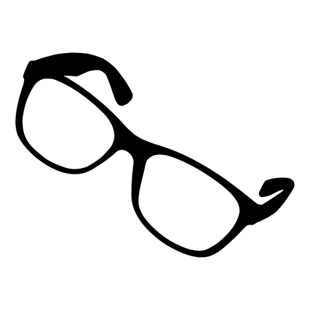 Eye glasses on white background for your design Illustration