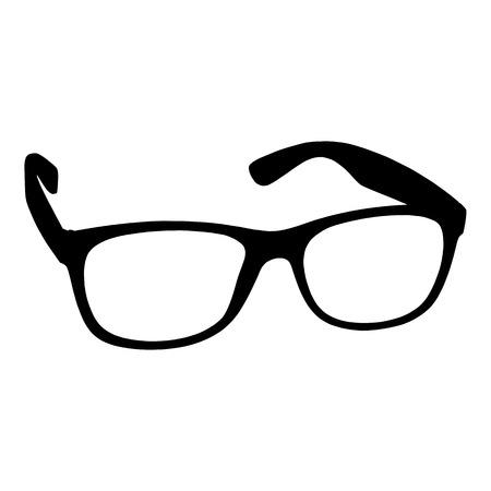 astigmatism: Eye glasses on white background for your design Illustration