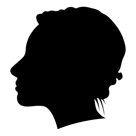 profile silhouette: silhouette of a woman in profile on a white background for your design
