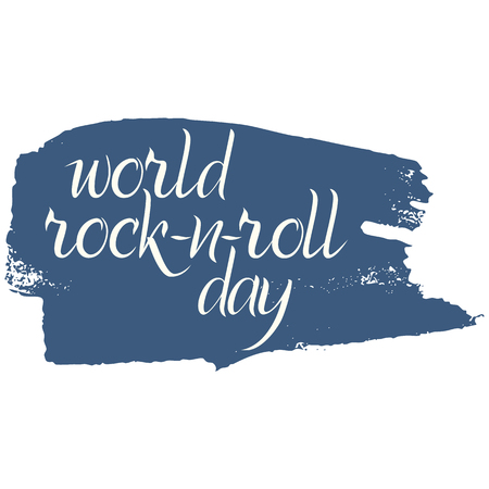 World rock-n-roll day poster in grunge style.