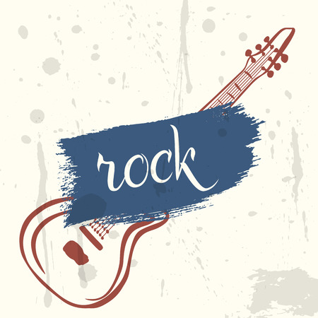Rock poster in grunge style