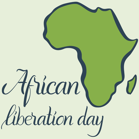 Inscription African liberation day and map of the Africa