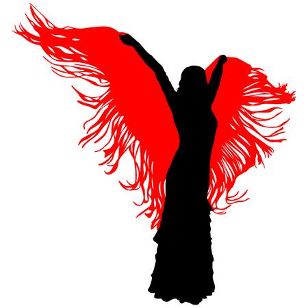 silhouette of flamenco dancer Illustration