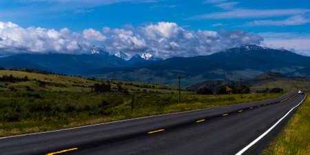 A roadside view in Montana near Bigsky resort Stock fotó