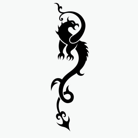 dragon vector illustration for tattoo designs, symbols and other designs