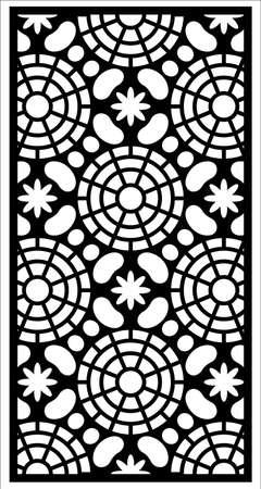 window vector ornament Vektorové ilustrace