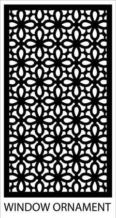 window vector ornament design