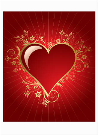 vector red love background