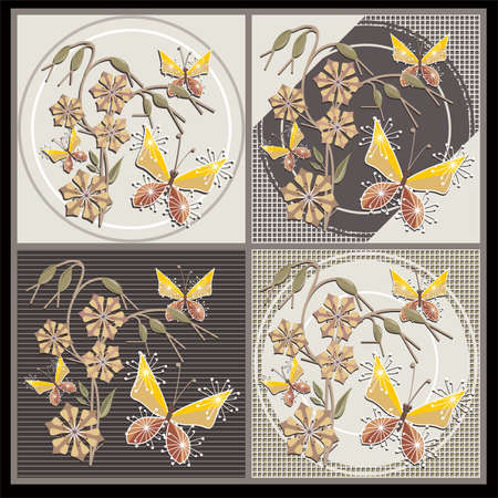 ABSTRAC FORAL BACKGROUND COLLECTION