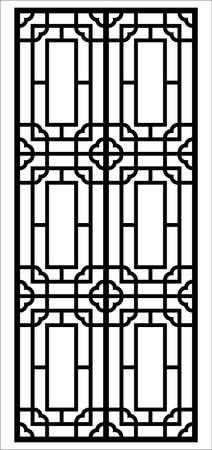 window vector ornament Stock Illustratie