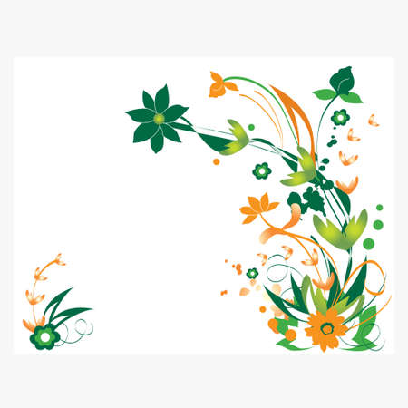 abstract floral pattern vector design