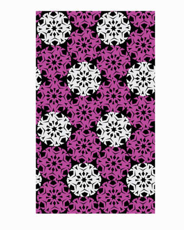 floral abstract  pattern Stock Photo