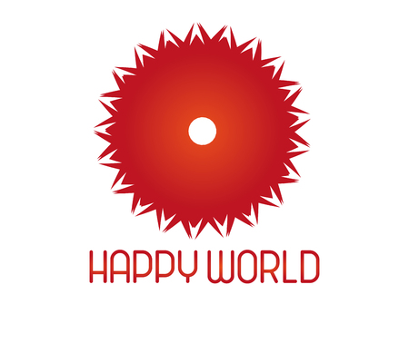 happy world: Happy world logo for any business project. Illustration