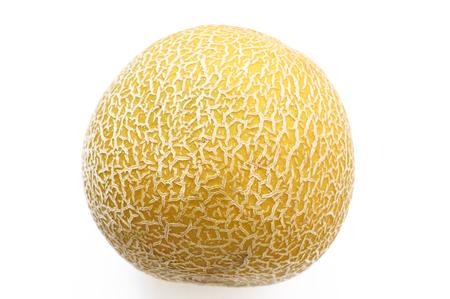 Cantaloupe: cantaloupe isolated on white