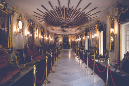 cairo, egypt, may 6, 2017: view inside throne hall of muhammad ali at manial palace Editorial