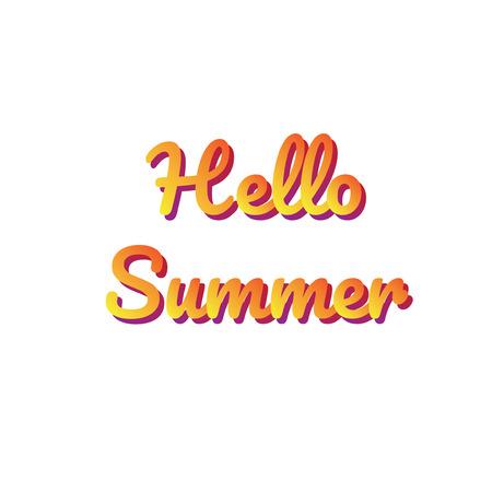hello summer vector banner, t-shirt design