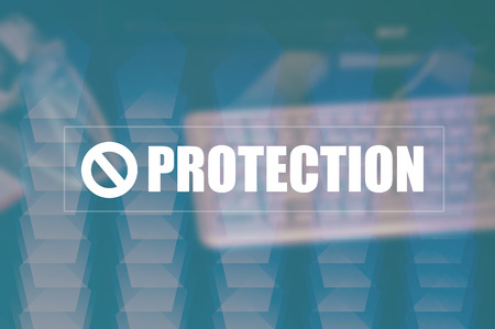 lockout: protection with blurring business background Stock Photo