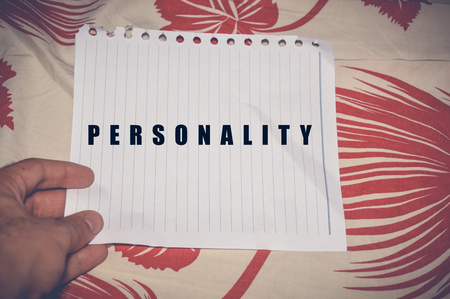 Personality written on white paper, business concept