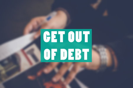get out of debt business background