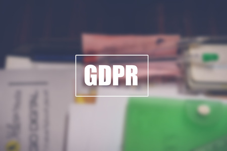 GDPR. data protection regulation,  privacy and cyber security concept