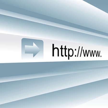 Internet address, computer screen. Close up. Vector