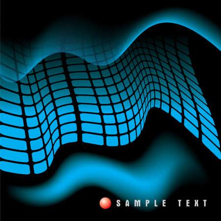 raggi di luce: Raggi blu mosaico 3D luce.