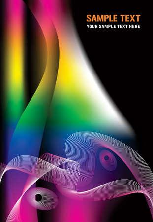 colored smoke: Colored smoke waves Illustration