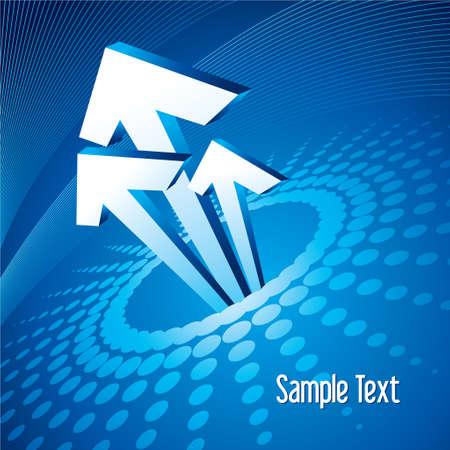 Vector illustration of 3d arrows, logo design Illustration