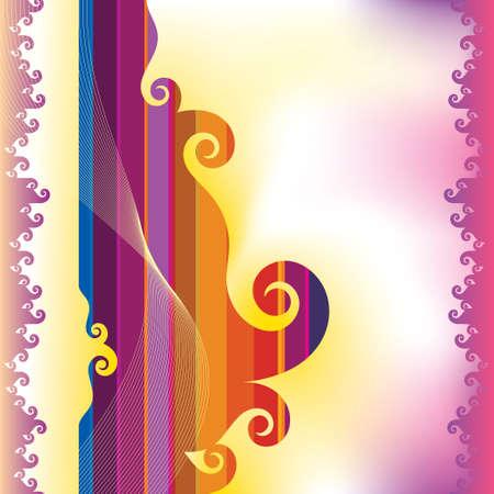rainbow background: rainbow colors background Illustration
