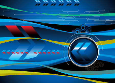 Abstract technical banners - Illustration