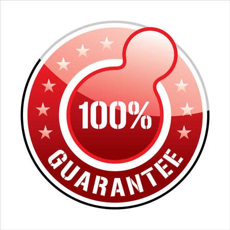Icon - 100% Secure Seal - Illustration Illustration