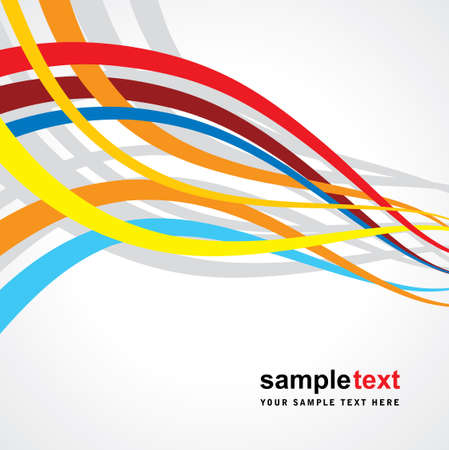 smooth curve design: abstract rainbow wave line with space of your text Illustration