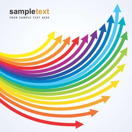 upward: upward colorful arrows with sample text