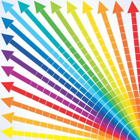 upward: upward colorful arrows for business Illustration