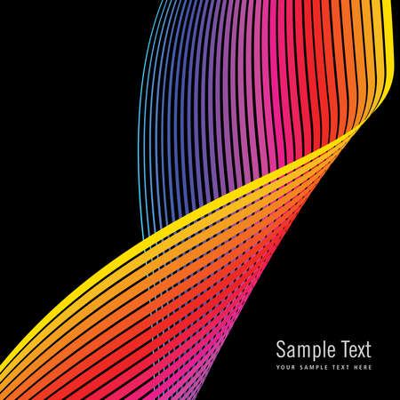 vector sample: Abstract colorful background for sample text. Vector